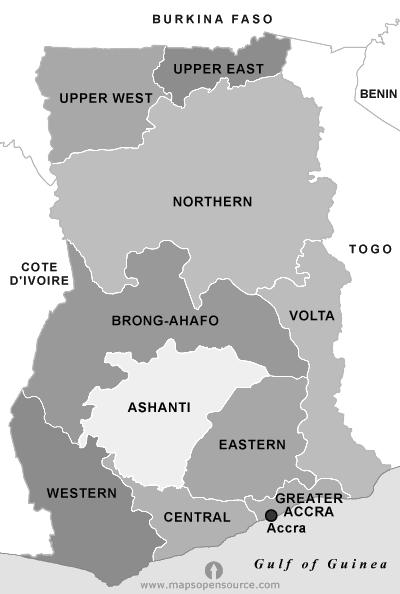 Map Of Ghana Ghana High Commission Canberra Australia - Ghana map